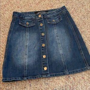 Ashley Mason Denim Button Up Skirt